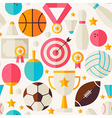 Sport Competition Recreation Flat Seamless Pattern vector image