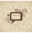Vintage background with speech bubble vector image