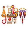 Music machine vector image