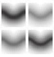 Halftone gradient effects vector image