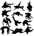 Wrestling Sport Activity Silhouettes vector image