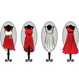 Dresses on a mannequin vector image