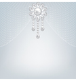 Gray background with pearl jewelry vector image vector image