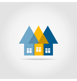 Arrows the house vector image