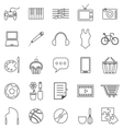 Hobby line icons on white background vector image vector image