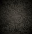 Seamless Black Floral Background vector image