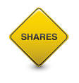 share warning vector image vector image