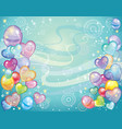 background with balloons turquoise vector image