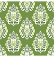 Green Vintage seamless retro floral wallpaper vector image