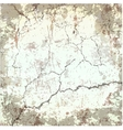 old cracked grunge texture vector image
