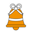 ornamental bell design vector image