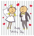 Romantic wedding couple Cute married vector image