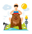 russian and industry flat style colorful vector image