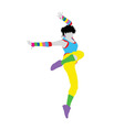 Happy Dancer Silhouette vector image