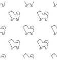 Chow-chow icon in black style for web vector image
