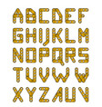 gold construction alphabet vector image