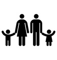 Family symbol isolated vector image