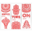 set of banners with Mandalas and yoga vector image