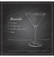 coctail alexandr on black board vector image vector image
