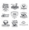 Big Dinosaur Logo Set Triceratops t-shirt vector image