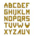 gold construction alphabet vector image