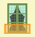nice tall broad windows in european style vector image