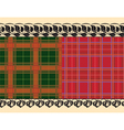 plaid fabric delicate embroidery vector image