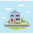 Flat design Family home Flat vector image vector image