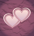 Valentines Day vintage background with hearts vector image vector image
