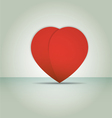 Heart paper Valentines day card vector image