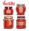 rose petal jam in jars vector image