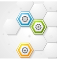 Hexagons infographic design vector image