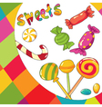 sweets colorful background vector image vector image
