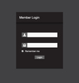 Member login design vector image