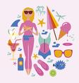 Fashionable holidays set vector image