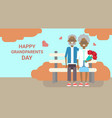 happy grandparents day greeting card holiday vector image