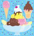 ice cream sundae party vector image