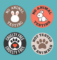 no animal testing and cruelty free vector image
