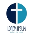 religion logo design template crucifixion vector image