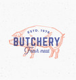retro print effect butchery abstract sign vector image