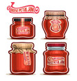 rose petal jam in jars vector image