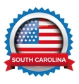 South Carolina and USA flag badge vector image