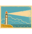 Vintage Poster with Lighthouse vector image