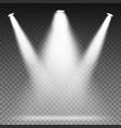 white beam lights spotlights scene light vector image