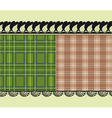 scottish fabric delicate embroidery vector image vector image