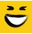 Laughing emoticon painted vector image
