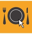 icon of advertisement for restaurants web vector image vector image