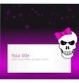 Funny background with angry skull vector image