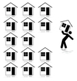 Selecting a house vector image vector image