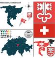 Map of Nidwalden vector image